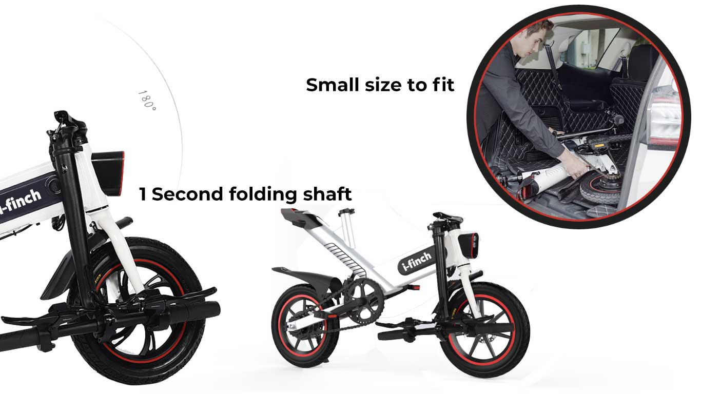 i-finch Smart Personal Mobility Folding Rideable 15