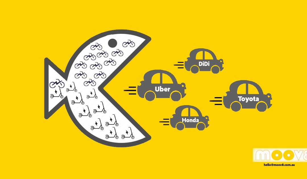 Micromobility disrupting car trips